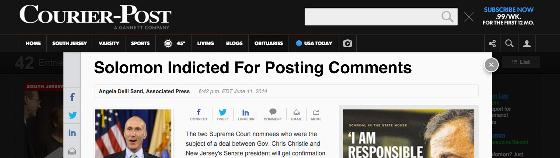 Courier Post News? Jail Time For Posting Pet Videos